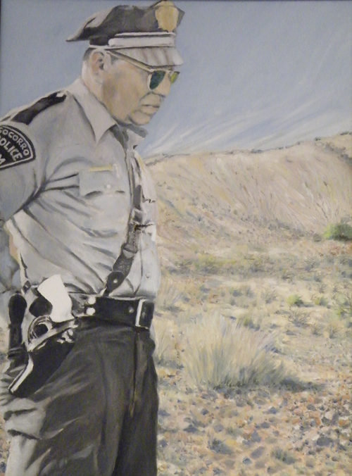painting of Lonnie Zamora by Patrick M. Richard