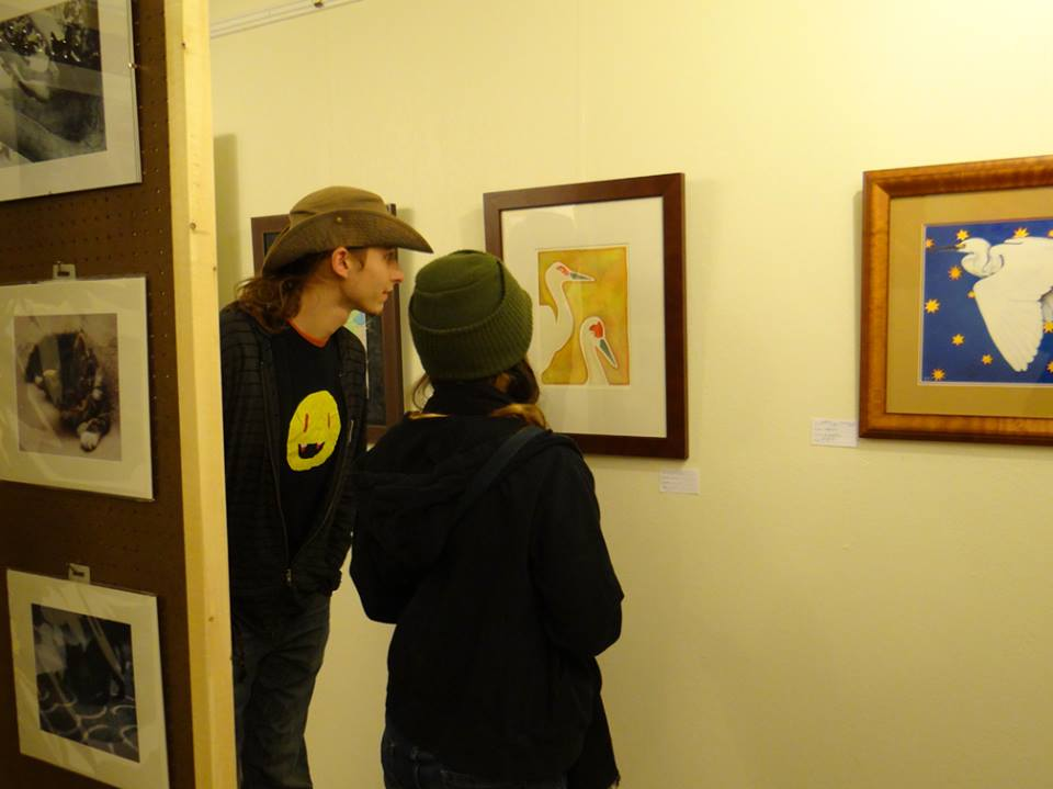 Couple Viewing Art at 3 Cranes