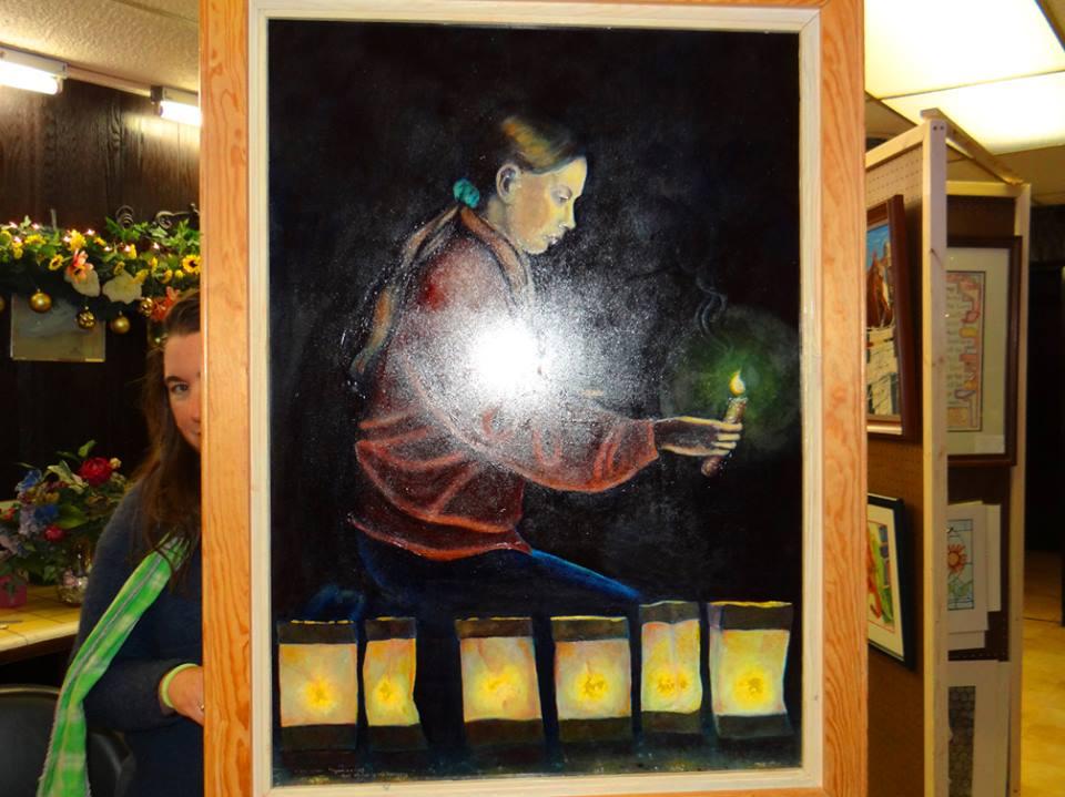 Luminarias Painting Image 12-7-13
