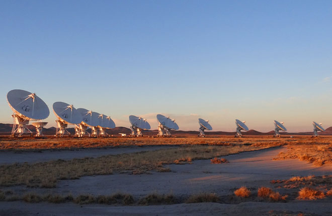 giant telescopes at the Very Large Array