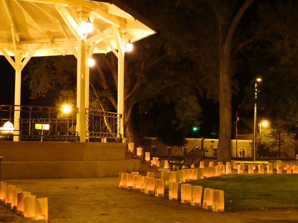 Plaza Gazebo with luminarias