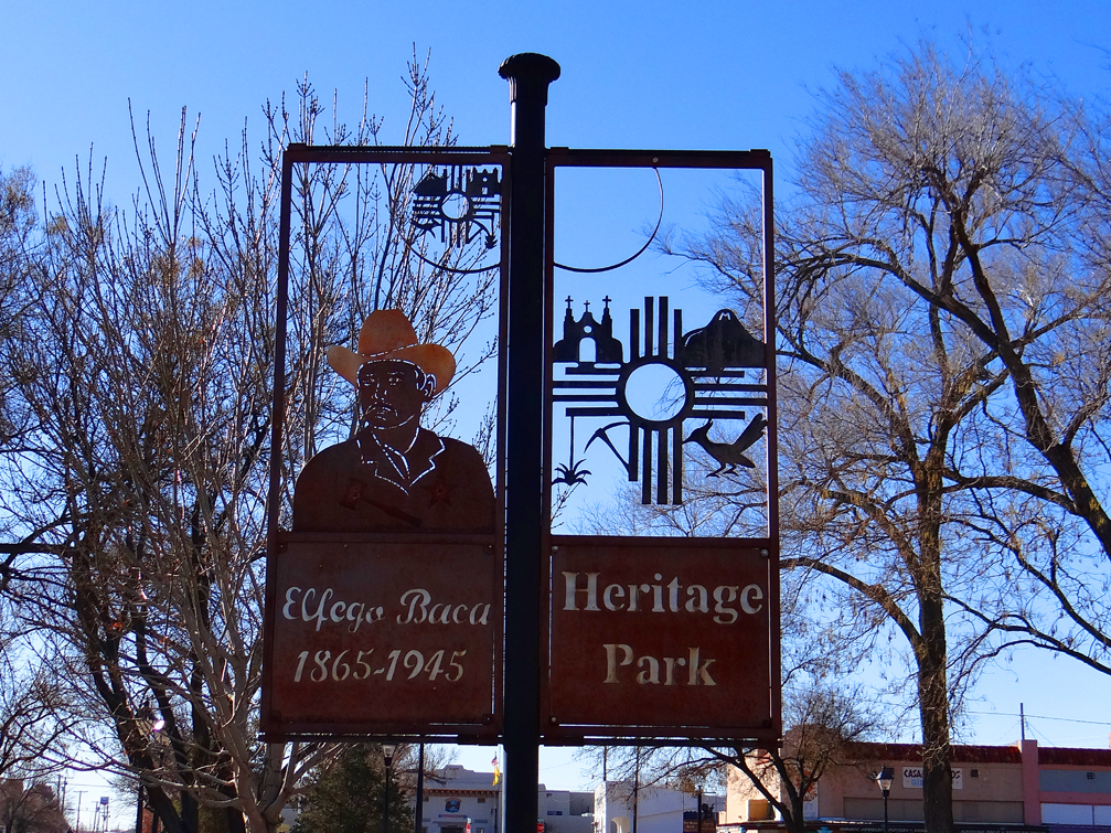 Elfego Baca Park Sign