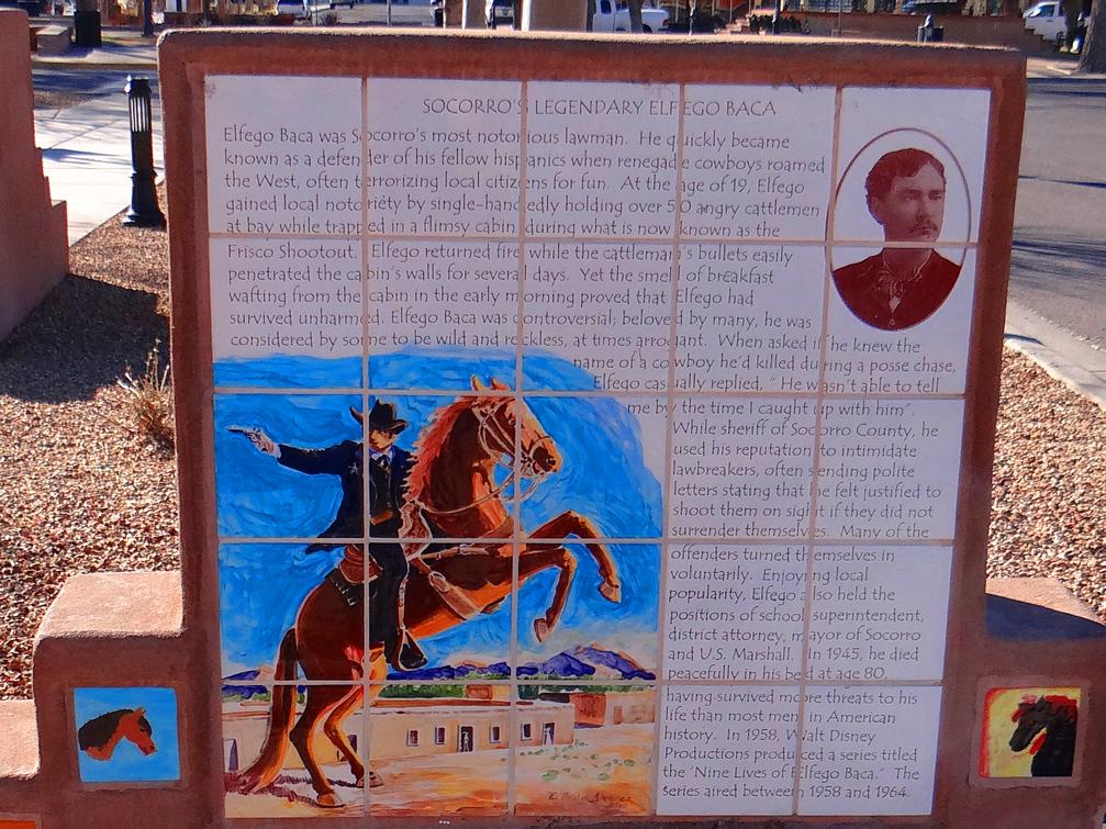 Elfego Baca Tile Monument