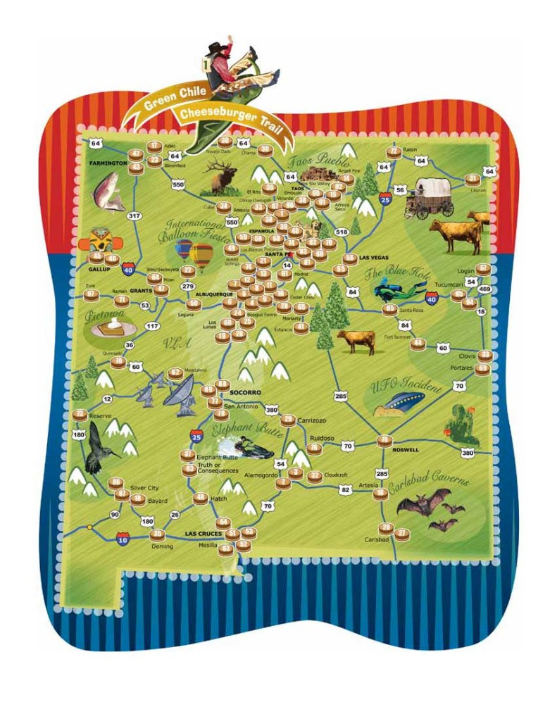 Green Chile Trail Map