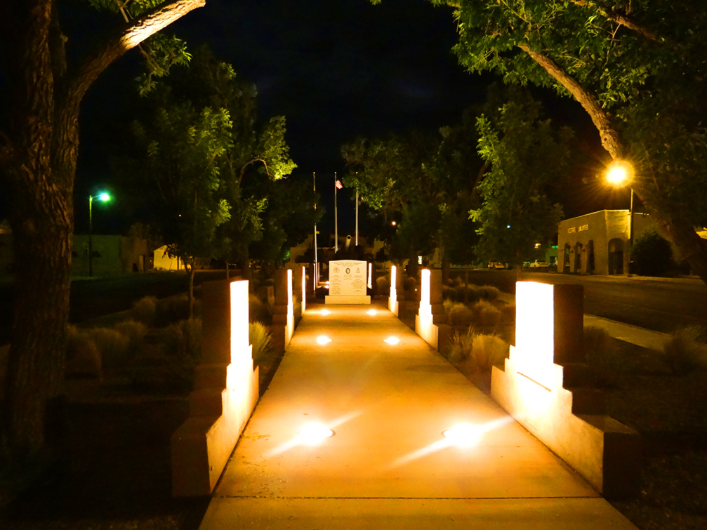 Isidro Baca Park at Night