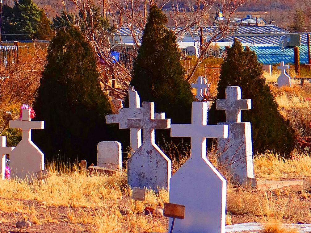 San Miguel Cemetery Cross Headstones