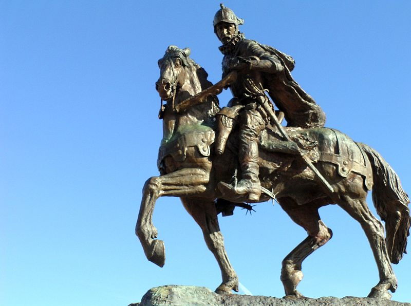 Onate Monument Center, Alcalde, NM-Equestrian Statue of Juan De Onate